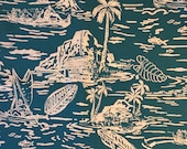 Free Shipping 1 Yard High Quality Hawaii Pattern Print Cotton Fabric for Quilting Cloths Home Made Face Mask DIY FY-22