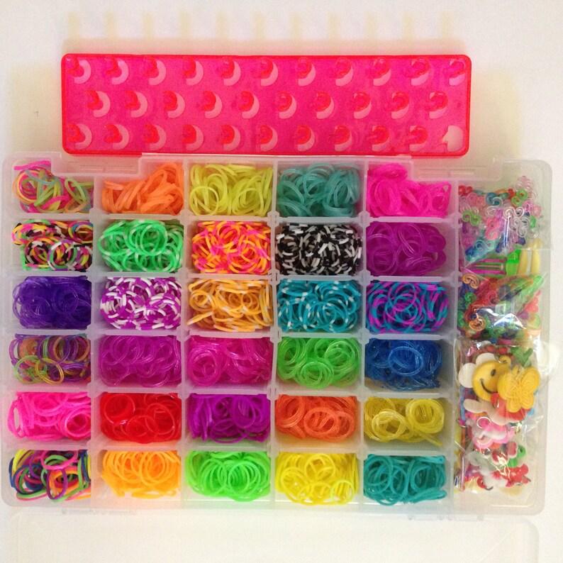5000 Loom Bands Bracelet Making Multi Glitter Rubber Bands Charms Kit Gift Box Beading & Jewellery Kits Jewellery Making Kits