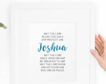 Child's Prayer Custom Art Print / Downloadable Printable Art / watercolor, typography, kids room, minimalist DIY PDF JPEG art print