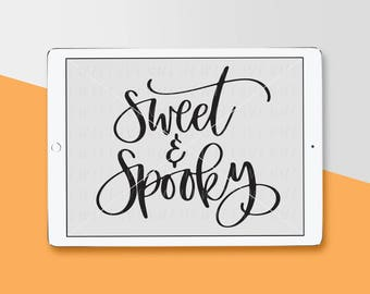 Hand Lettered SVG, Halloween Cut File, Silhouette SVG, Cricut Download, Graphic Overlay