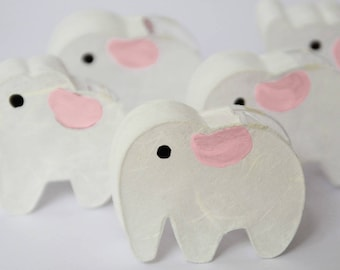 20 Adorable Elephant Paper Lantern LED Battery Operated String Lights-Kid's Room,Nursery,Baby shower,Birthday,Christmas,New Year,Gift