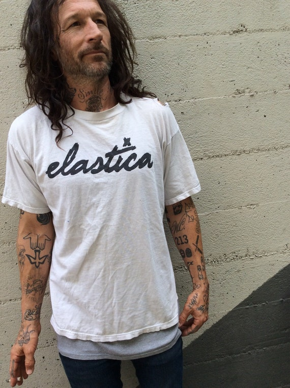 Elastica XL unisex New Wave Punk Tee 90's