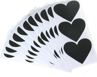 Set of 33 stickers hearts