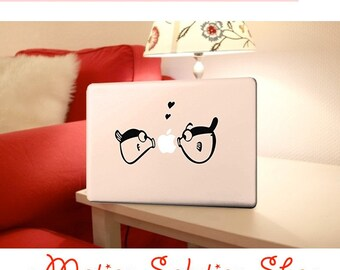 Decal sticker MacBook fish Love
