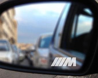Stickers set of 2 BMW M rear view mirror