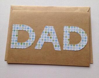 DAD Card, Father's Day Card, Dad Birthday Card, Daddy Card