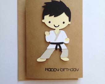 Martial Arts Birthday Card, Karate Birthday Card, BJJ Birthday Card, Happy Birthday Card, Male Birthday Card, Father's Birthday Card