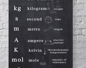 Printable SI Units and Prefixes Science Posters