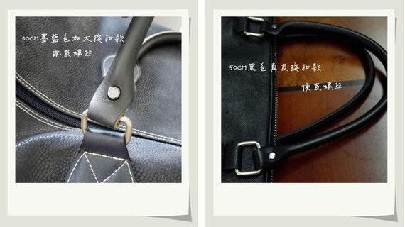 Multicolors Straps Cowhide Short Handles Handbag Parts A Pair Portable 30cm With Screwdriver