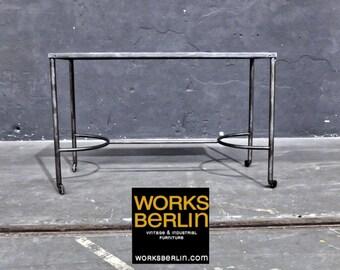 Vintage Metal table on rollers
