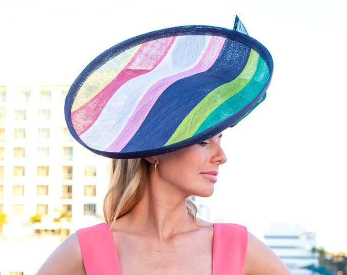 Multi Color Striped Hatinator