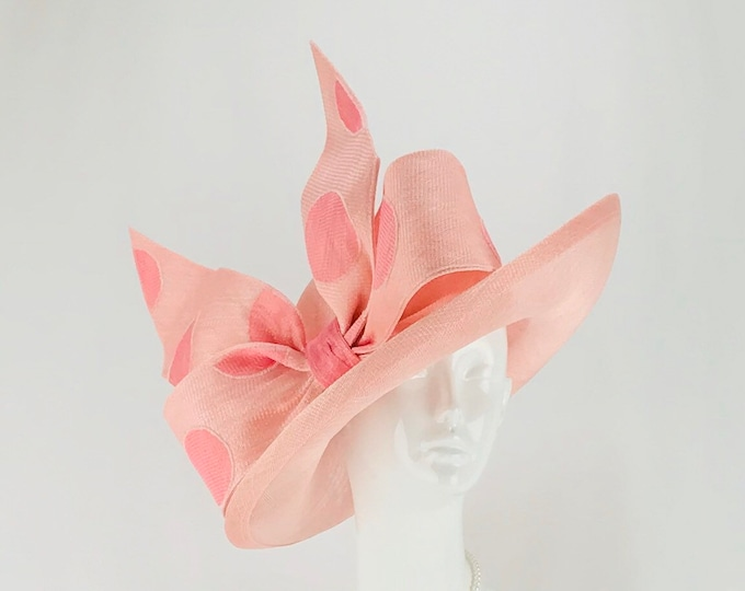 Light Pink Sinamay Hat
