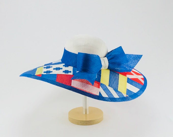 Nautical Flags Sinamay Hat