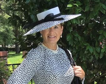 Custom Design Black and White Polka Dot Hat