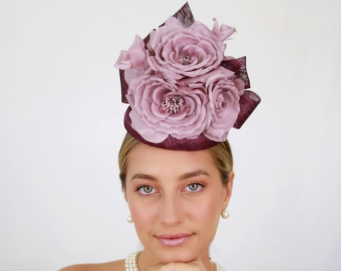 Plum and Lavender Fascinator