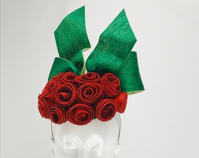 Red Rose Fascinator