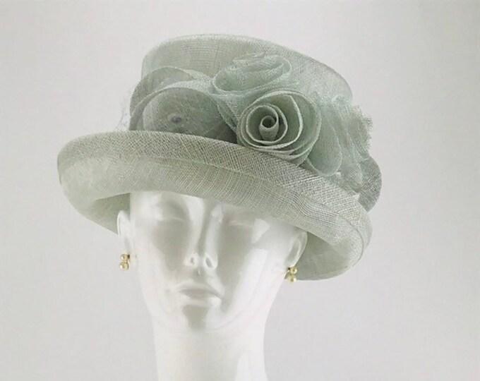 Light Blue Sinamay Small Brim Hat