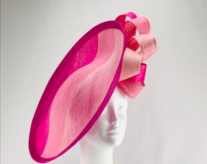 Pink Ombre Stripe Sinamay Hatinator