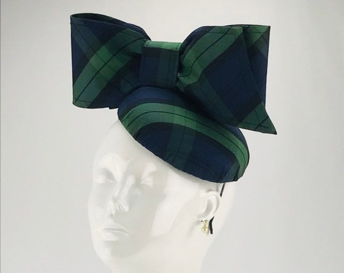 Black Watch Plaid Fascinator