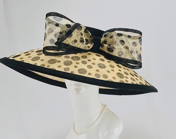 Black and Tan Wide Brim Hat