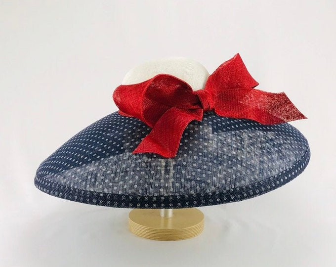 Red, White and Blue Sinamay Hat