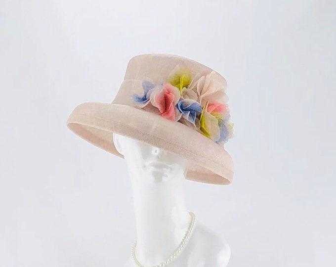 Light Mauve Sinamay Small Brim Hat