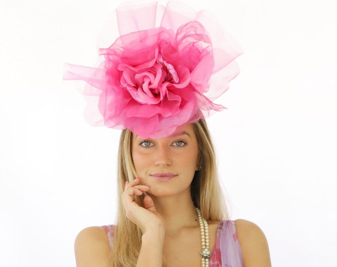 Fuchsia Rose Fascinator