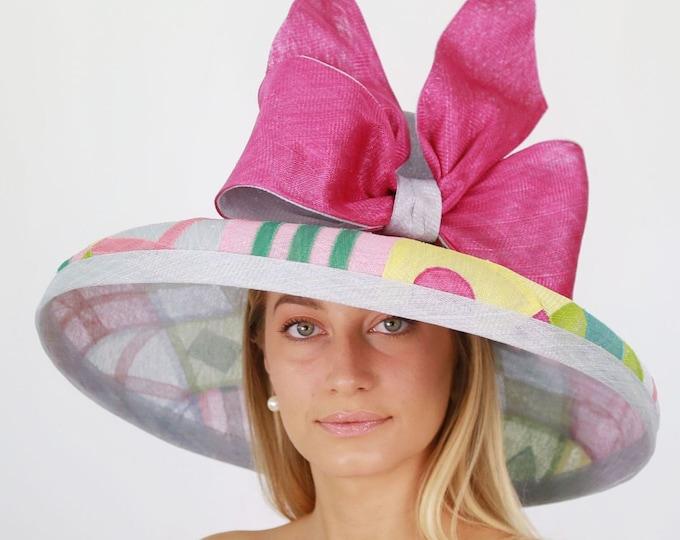 Jockey Silk Inspired Wide Brim Hat
