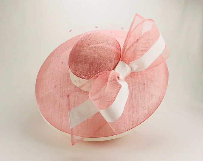 Light Pink Wide Brim Hat