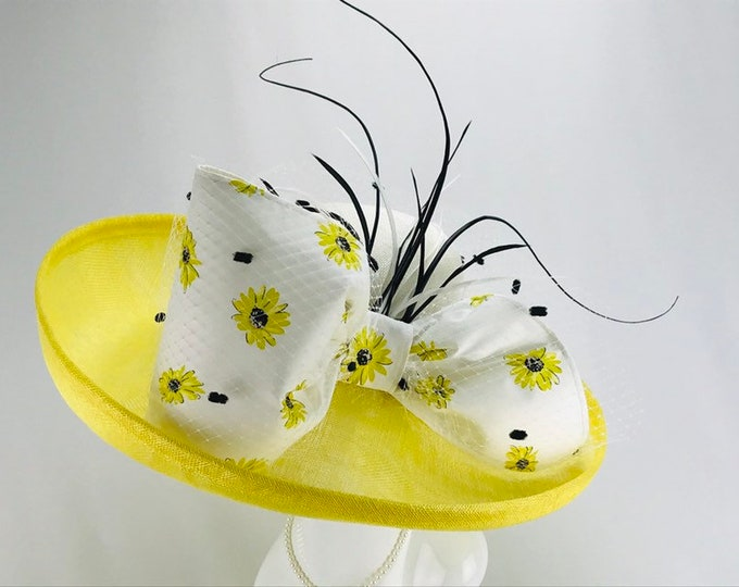 Black Eyed Susan Wide Brim Hat with Kate Spade Bow