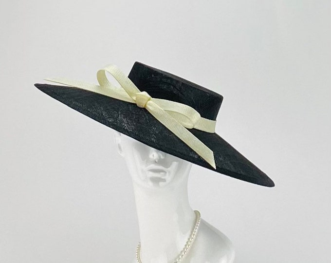 Black Hat with Ivory Bow
