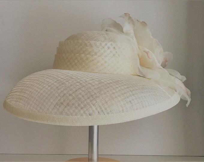 Ivory Sinamay Hat
