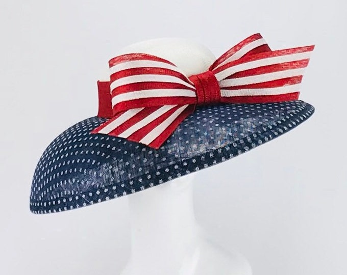 Red, White and Blue Wide Brim Hat