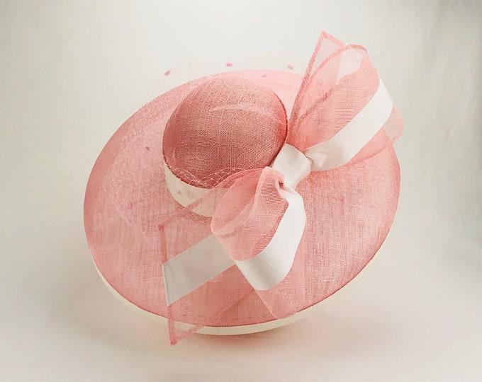 Light Pink Wide Brim Hat