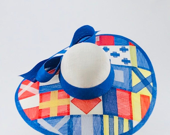 Nautical Flags Sinamay Hat
