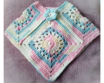 Baby girl poncho, baby clothes,  baby girl top