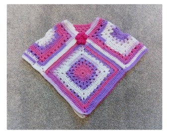 girls poncho, baby clothes,  baby girl top 1-2 years