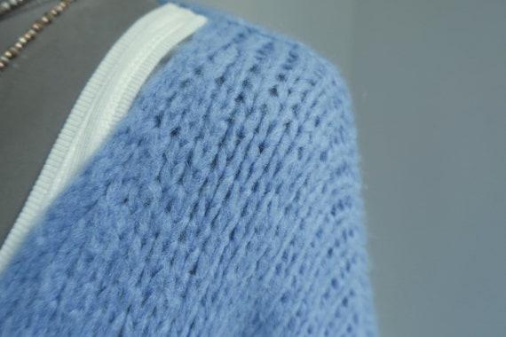 Damen Flausch Streifen Pullover Pulli Häkel Strickpulli Gestreift* 38 40 42 44