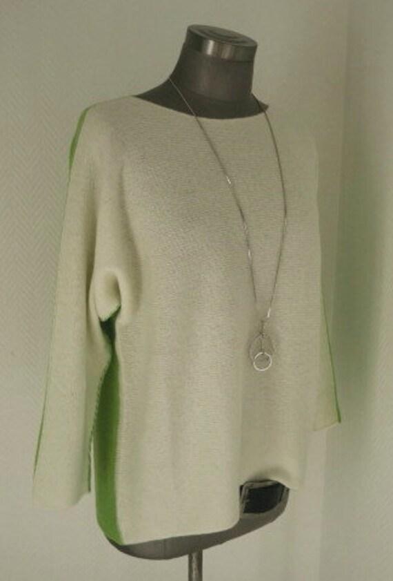 Kaschmir Pullover, Pullover Damen, heller Pulli Frauen, 2faces Pullover, Pullover uni, Pulli Kaschmir Mix, Strickpulli Herbst,