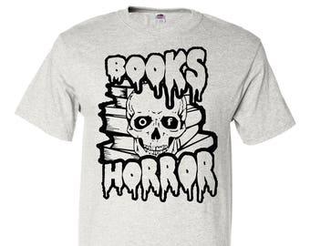 Books of Horror - Adult unisex t-shirt