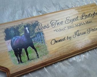 Custom Horse, Dog/Cat, or Livestock stall name plate