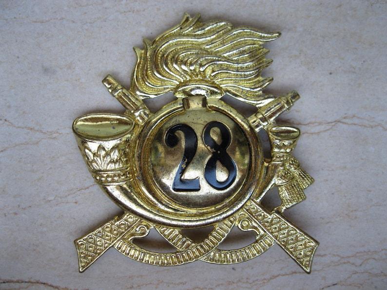 86112fff170f4 Cap badge for 28th Bersaglieri Regiment Italian Army 1950s