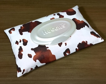 Brown Cow / B&W Cow Wipe Case, Wipes Case, Wipes Holder, Wipes Cover