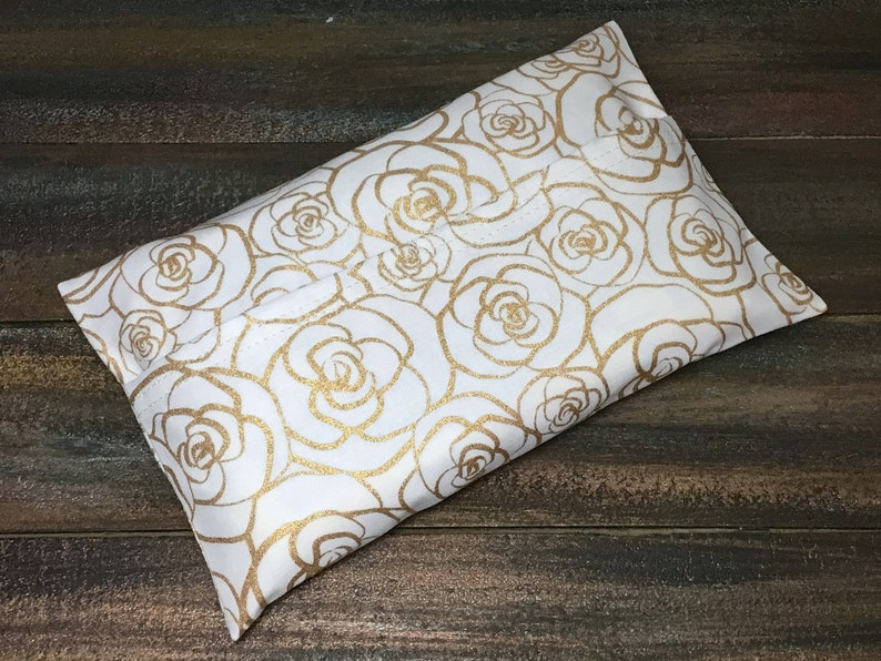 Gold Scroll Roses Print Wipe Case  Travel Wipes Case  Wipes Case Cover   Wipes Holder  Baby Wipes Case  Bag Wipes  Wet Wipes
