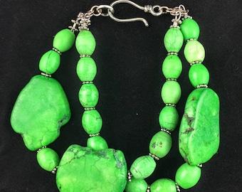 Green Turquoise Double Strand Bracelet
