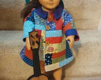 """NIP Dolly Parton Coat of Many Colors Coat for 18/"""" Doll"""