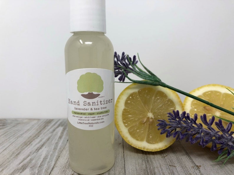 Hand Sanitizer (Tea Tree Lavender) *** Alcohol Free  All Natural  Homemade   Vegan