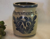 Independence, NJ 5.5 quot Crock made by Beaumont Brothers Pottery, BBP of Roseville, Ohio, Excellent Condition