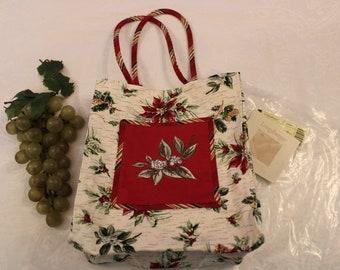 *Longaberger 2005 Holiday Tote Bag Christmas