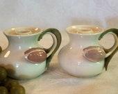 Vintage Goebel Porcelain Tulip Handled Candle Holders - W. Germany